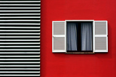 Cala Rajada (HWHawerkamp) Tags: spain mallorca cala rajada building architecture facade red window graphics abstract travel patterns lines white