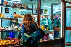IMG_1190 (Kathi Huidobro) Tags: londonlife streetportrait windowshopping londonshops afterdark nightlife bagelshop streetphotography candid warmtones reportage bricklane eastlondon london