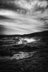 Amazing Iceland - Geysir III (Passie13(Ines van Megen-Thijssen)) Tags: ijsland iceland island geysir blackandwhite fineart bw sw zw zwartwit monochroom monochrome monochrom canon inesvanmegen inesvanmegenthijssen