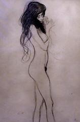 IMG_6532B Gustav Klimt 1862-1918  Vienne Standing female nude  1901 Wien Albertina (jean louis mazieres) Tags: peintres peintures painting musée museum museo österreich autriche austria vienne wien albertina