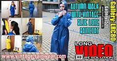 GalleyLRC80 (Tamara silkscarf) Tags: raincoat rainwear agu longraincoat regenjacke regenjas vintageraincoat scarfqueen yellowraincoat blueraincoat