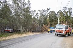 Bushfire One Mile (vk2gwk - Henk T) Tags: bushfire fire emergency onemile nsw australia