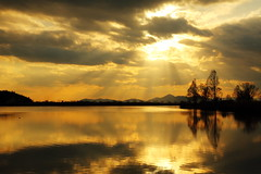 Moment of Peace (Teruhide Tomori) Tags: landscape marsh water sunset shiga hikone japan japon nature light cloud sonemarsh 曽根沼 自然 風景 日没 滋賀県 彦根 水辺 日本 天使の梯子 angelsladder angelsstairway reflection ray happyplanet asiafavorites