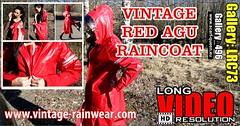 GalleryLRC73 (Tamara silkscarf) Tags: rainwear raincoat rainclothes vintagerainwear regenjacke regenjas agu agusport aguraincoat scarfqueen womenraincoat girlsraincoat