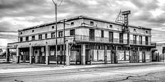Stout's Hotel (Andy Skalski) Tags: arizona gilabend hotel stouts dramatictone wednesday blackandwhite bw