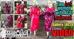 GalleryLRC24 (Tamara silkscarf) Tags: rainwear raincoat rainclothes vintagerainwear regenjacke regenjas agu agusport aguraincoat scarfqueen womenraincoat girlsraincoat
