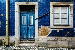 Blue, Lisbon, Portugal (Davide Tarozzi) Tags: blue lisbon portugal portogallo lisboa lisbona door porta window finestra