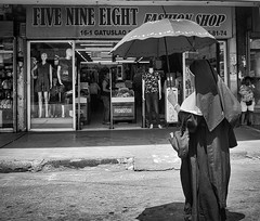 Five Nine Eight (Beegee49) Tags: street people woman nun fashions blackandwhite monochrome sony happyplanet a6400 bacolod bw city philippines asia asiafavorites