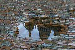 Reverse world II (jefvandenhoute) Tags: belgië brussel bruxelles light reflections rain grotemarkt