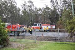 Bishfire One Mile (vk2gwk - Henk T) Tags: bushfire onemile nsw australia emergency fire
