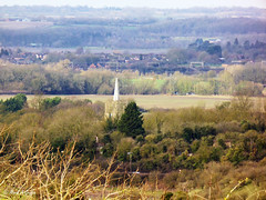 A hazy distance... (mark.griffin52) Tags: england buckinghamshire ivinghoe view trees buildings village steeple church countryside landscape