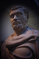You're in the presence of Septimus Severus … (marc.barrot) Tags: portrait sculpture london statue roman bloomsbury empire marble britishmuseum emperor antiquity spqr septimusseverus greatrusselstreet x100f uk wc1b ancientrome