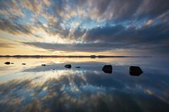 Sunset reflection (chibitomu) Tags: clouds lake landscape nature reflection sunset kasumigaura namegatashi ibaraki japan 霞ヶ浦 夕景 映り込み 行方市 茨城県 日本 chibitomu