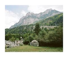 (iconicturn) Tags: theth albania balkan valbona mountain mountains bunker forest analog analogue film mediumformat 120 6x7 kodak portra mamiya7 mamiya rural countryside