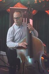 Zoe Rahman Trio (2020) 06 - Alec Dankworth (KM's Live Music shots) Tags: jazz greatbritain alecdankworth zoerahman doublebass eastsidejazzclub leytonstoneexservicemensclub