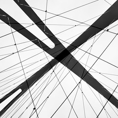 Simple Abstract 58 (No Great Hurry) Tags: nogreathurry robinmauricebarr abstract simpleabstract london bridge chiswick lookingup minimal lines doubleexposure fujifilm x100f diagonal mono monotone bnw noiretblanc blackwhite subumbrafloreo constructuralart blackwhitesquare january2020