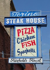 IA, Fairfield-Torino Steak House Sign