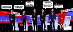 Democratic Debate (Cui Bono) Tags: democratic party democrat debate cnn television president united states america nominee primary vote politician election bernie sanders elizabeth warren joe biden pete buttigieg tom steyer amy klobuchar