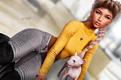 ◈№. 890 - just chill (Alica Release) Tags: addams besom hair girl sweet sexy cat catwa maitreya sl secondlife