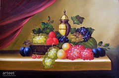 Still Life Grapes, Art Painting / Oil Painting For Sale - Arteet™ (arteetgallery) Tags: arteet oil paintings canvas art artwork fine arts fruit grape berry produce grapes sweet ripe fresh juicy diet fruits organic delicious tasty raw freshness vegetable autumn agriculture yellow close plant natural summer berries juice crop peach cherry still life decorative red brown paint