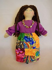 Hippie Girl Doll With Patchwork Skirt (joellesdolls) Tags: hippiedoll hippiegirl girldoll dollwithbrownhair dollwithlovebeads dollwithblueeyes handmadedoll handmadetoy ragdoll oneofakind toysforkids artdollforadults