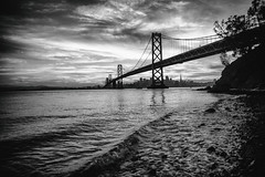 And The Things You Can't Remember Tell The Things You Can't Forget (Thomas Hawk) Tags: america bayarea baybridge california sf sfbayarea sanfrancisco usa unitedstates unitedstatesofamerica westcoast yerbabuenaisland bridge bw norcal sunset fav10 fav25 fav50 fav100