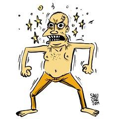 A Besta (Saulo Cruz) Tags: desenho sketch draw saulocruz cartoon desenhando kevincrumb filme glass corpofechado vidro