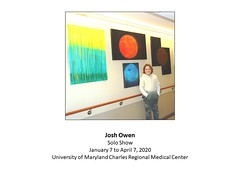 "Josh Owen Solo Show UMCRMC January 7 to April 7, 2020 • <a style=""font-size:0.8em;"" href=""http://www.flickr.com/photos/124378531@N04/49389416078/"" target=""_blank"">View on Flickr</a>"
