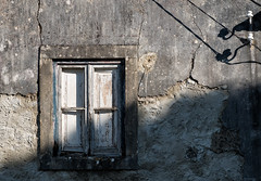 'Time after Time' (Canadapt) Tags: window shadow wire wall decay shutter doors power electricity nafarros portugal canadapt