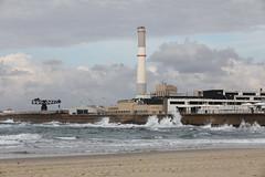 Redding (Eyal Peleg) Tags: sea beach port powerstation sky waves