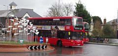 IMGP5581 (Steve Guess) Tags: kingstonuponthames kingston surrey greater london england gb uk bus united ratp collageroundabout scania omnidekka sp sculpture street art yt59pco