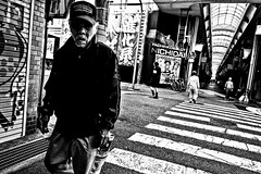 Lost Souls of Kamagasaki (Victor Borst) Tags: osakaraw street streetphotography streetlife real reallife realpeople asian asia asians faces face candid city cityscape citylife osaka kamagasaki nishinari shinimamiya arcades povert portrait poverty people japan japanese otherside fuji fujifilm xpro2 expression expressions mono monotone monochrome blackandwhite bw