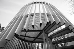 Sie sind unter uns.. (Elbmaedchen) Tags: blackandwhite architecture hamburg architektur ohlsdorf schwarzweis steps stairs treppe