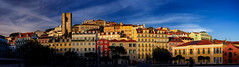 Lisbon out of the shadows (Pietro Faccioli) Tags: lisbon portugal skyline building house architecture window façade winter afternoon sky sun blue clouds street panorama town downtown urban cityscape historical evening sunset