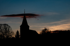 Curch right after Sunset (Deepmike70) Tags: landscape sunset church silhouette sky clouds tree