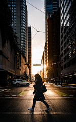 Crossing the Harsh Light (little_stephy0925) Tags: sony sonyalpha sonya7r4 sonya7riv a7riv a7r4 fe24mm14gm 24mm14gm 24mm14 wideangle downtownvancouver harshlight magichour shadow mood mirrorlesscamera urbanview urbanscape urban cityscape city cityview streetphoto streetphotography capturethemoment vancouver bc britishcolumbia canda vancouverbc yvr explorebc discoverbc beautifulbc