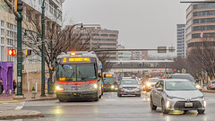 A rainy day without any rain (Tim Brown's Pictures) Tags: maryland silverspring downtown weather wetstreets winter buses cars headlights md unitedstates