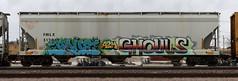 Popquiz/Ghouls (quiet-silence) Tags: graffiti graff freight fr8 train railroad railcar art pque popquiz ghoul ghouls a2m d30 dirty30 hopper fmlx fmlx51284