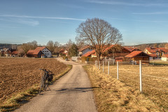 2020 Bike 180: Day 13 (suzanne~) Tags: 2020bike180 bike bicycle bavaria germany unterbrunn winterride country farmland fencedfriday fence