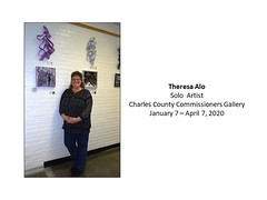 "Theresa Alo - Solo Artist - Charles County Commissioners Gallery January 7 - April 7, 2020 • <a style=""font-size:0.8em;"" href=""http://www.flickr.com/photos/124378531@N04/49390021066/"" target=""_blank"">View on Flickr</a>"
