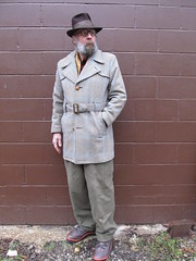 1-15-2020 Today's Clothes (Michael A2012) Tags: this mans winter style vintage fashion stetson whippet fedora hat fur felt 1950s montgomery ward wool woolrich silk niemann german army nike trailscape