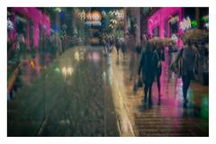 Pink Night (1 of 1)-3 (ianmiddleton1) Tags: glasgow rain icm buchananstreet