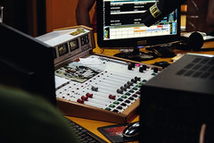 Soundboard Board Sound Mixer Audio Edited 2020 (chocolatedazzles) Tags: soundboard board sound mixer audio music equipment technology studio mixing mix production console electronic dj digital media record producer knob switch broadcast musical volume professional desk equalizer panel