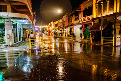 Night Street (abhishek.verma55) Tags: nightscape chinatown ©abhishekverma city streetphotography street rain travelphotography thai thailand lights travel fujifilmxt20 night nightphotography cityscape beautiful buildings colour colourful photography flickr person outdoor streetview quiet travelphotos urban urbanexploration urbanlandscape phuket vibrant wet exploration building road weather people moody taxidriver light nightstreet