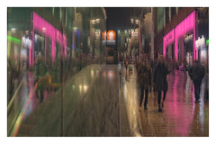 Pink Night (1 of 1)-2 (ianmiddleton1) Tags: glasgow rain icm buchananstreet