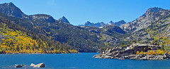 Early Autum on Lake Sabrina, Sierra Nevada, CA 2017 (inkknife_2000 (11 million views)) Tags: lakesabrina bishopcreekroad bishopca fallfoliage dgrahamphoto usa landscapes bluesky california sierranevada mountains aspen yellowaspen mountainpeaks crags island rocksinwater snowonmountains sparklingwater easternsierranevada highcountrylakes