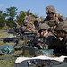 U.S. Marines with III Marine Expeditionary Force participate in an M240B machine gun range