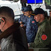 U.S., Japanese leadership watch flight operations aboard the amphibious assault ship USS America
