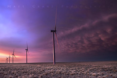 End of the day at the Windfarm (Matt Granz Photography) Tags: windfarm windmills plains colorado storm sky sunset twilight