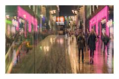 Pink Night (1 of 1) (ianmiddleton1) Tags: glasgow rain icm buchananstreet